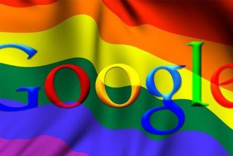 Google and LGBT flag