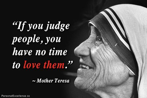 Mother Teresa on Judging