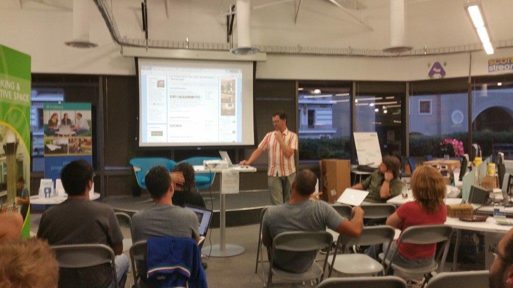 Matt presenting at our local AWP Meetup