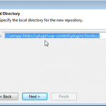 Choose your xampp install and then the plugin directory to download the repository to
