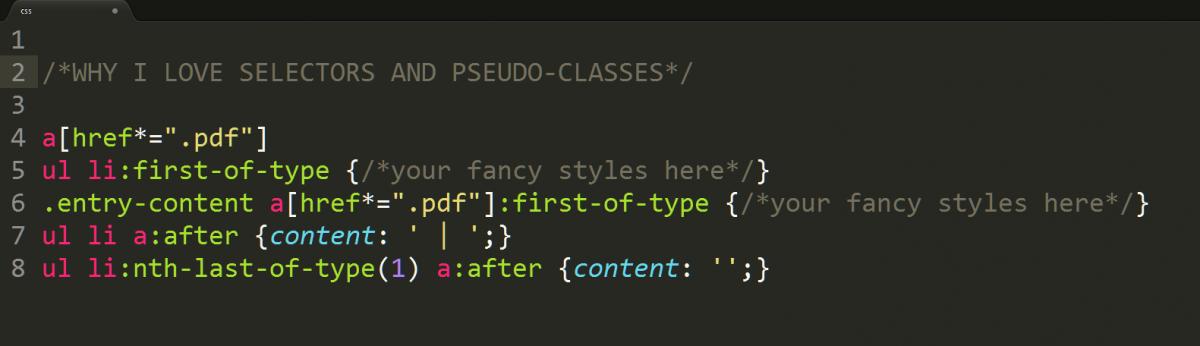 CSS Selectors Screenshot