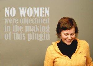 No Women Objectified WordPress Plugin Screenshot