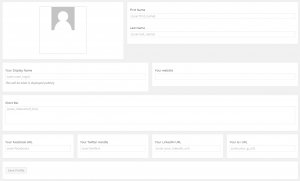 Screenshot of our Profile Editor form in the WordPress backend