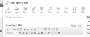 First public Post Formats UI screenshot from the WordPress Core 3.6 team.
