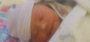 Noelle, new born, sleeping.