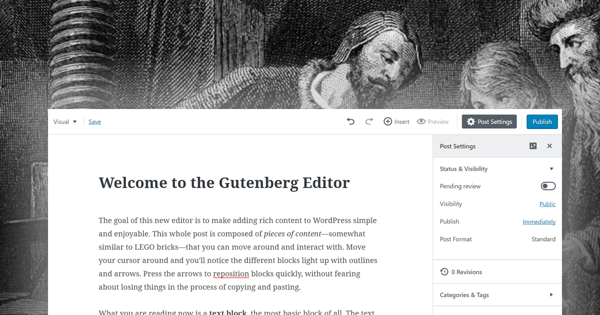 WordPress Gutenberg First Impressions